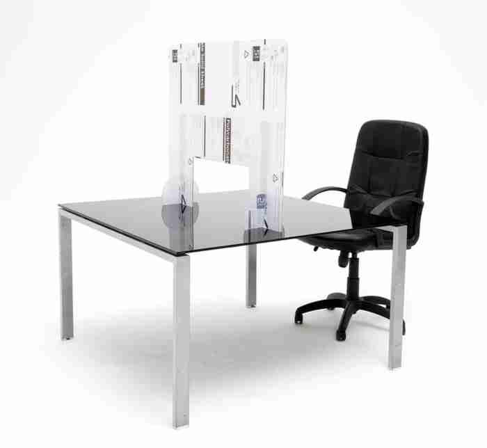 Barriera di protezione in plexiglass (policarbonato) misure 120x75cm o 100x70cm spessore 5mm - CST Scenografie