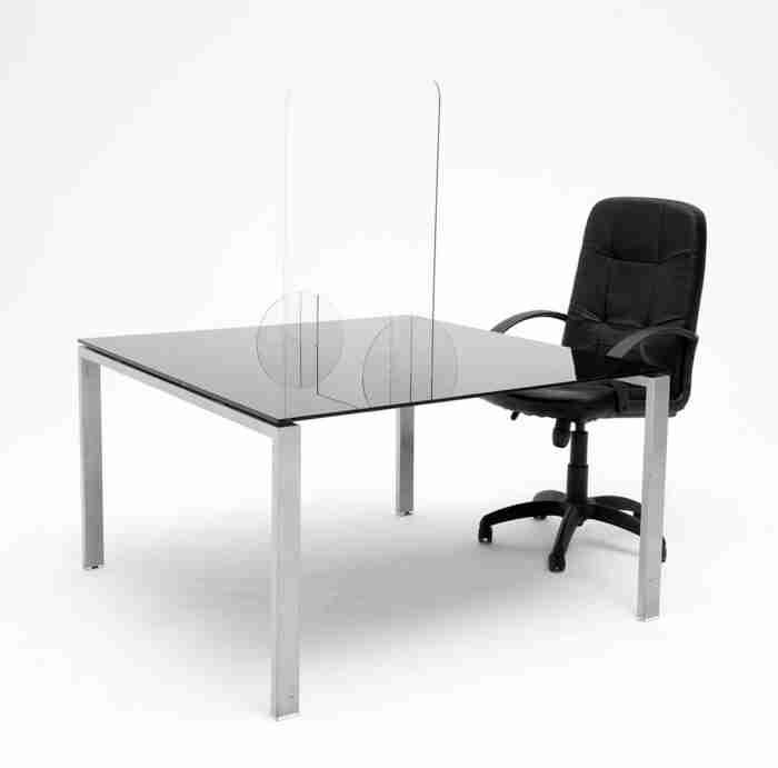 Barriera di protezione in plexiglass (policarbonato) misure 80x75cm o 60x70cm spessore 4mm - CST Scenografie