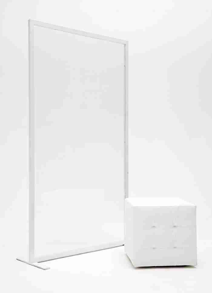Barriera di protezione in plexiglass (policarbonato) da terra misure 200x100cm o 180x100cm spessore 5mm - CST Scenografie