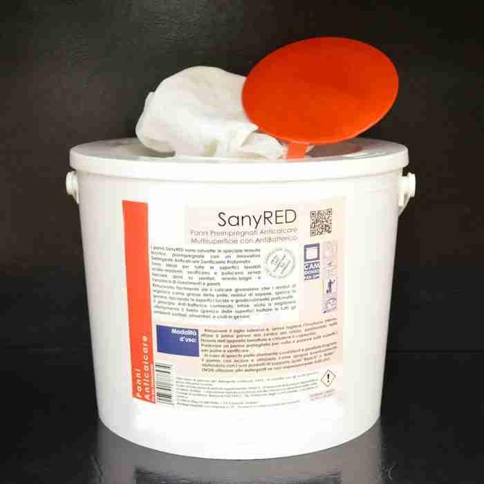 SanyRED salviette disinfettanti per sanitari e ceramiche